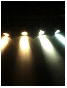 Die verschidene Lichtfarben bei der LED-Beleuchtung