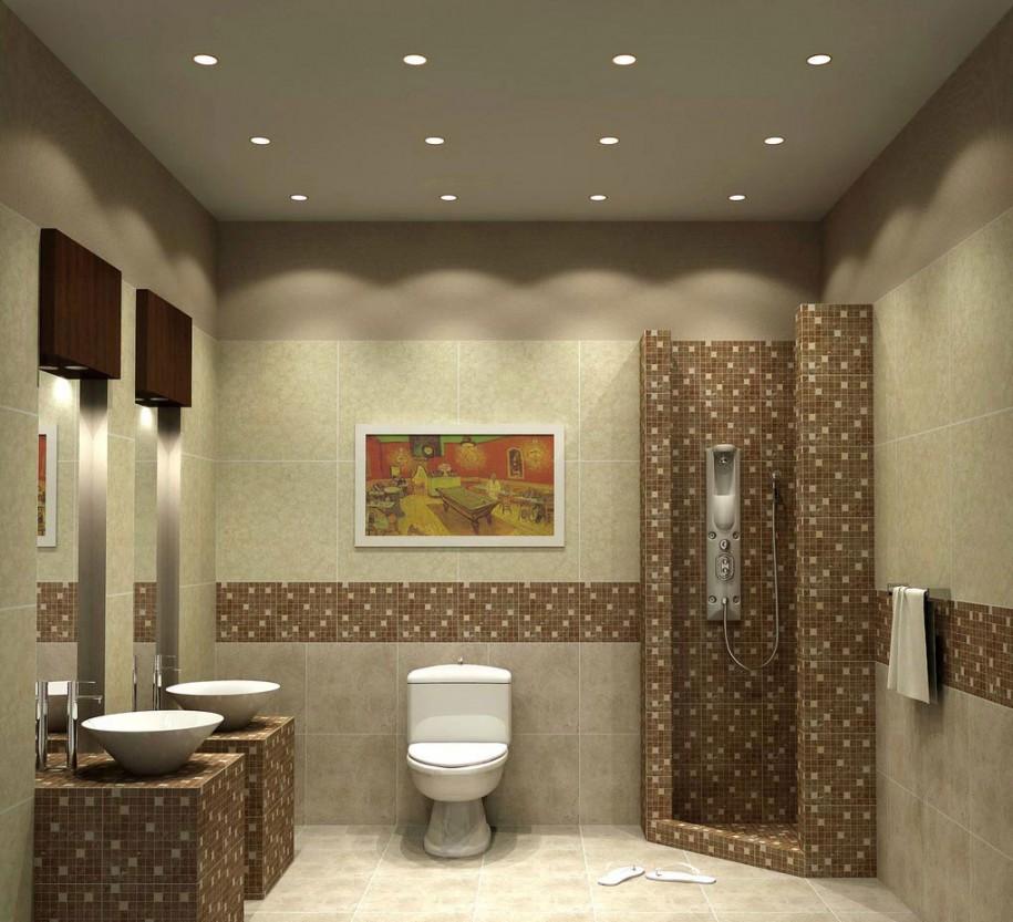Badezimmer Beleuchtung mit LED-Einbaustrahler oder LED-Einbauleuchten