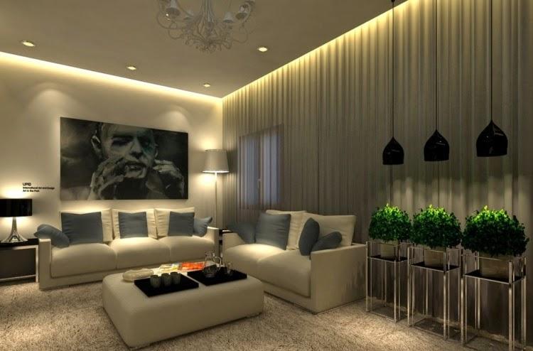 LED-Deckenleuchten im Wohnzimmer