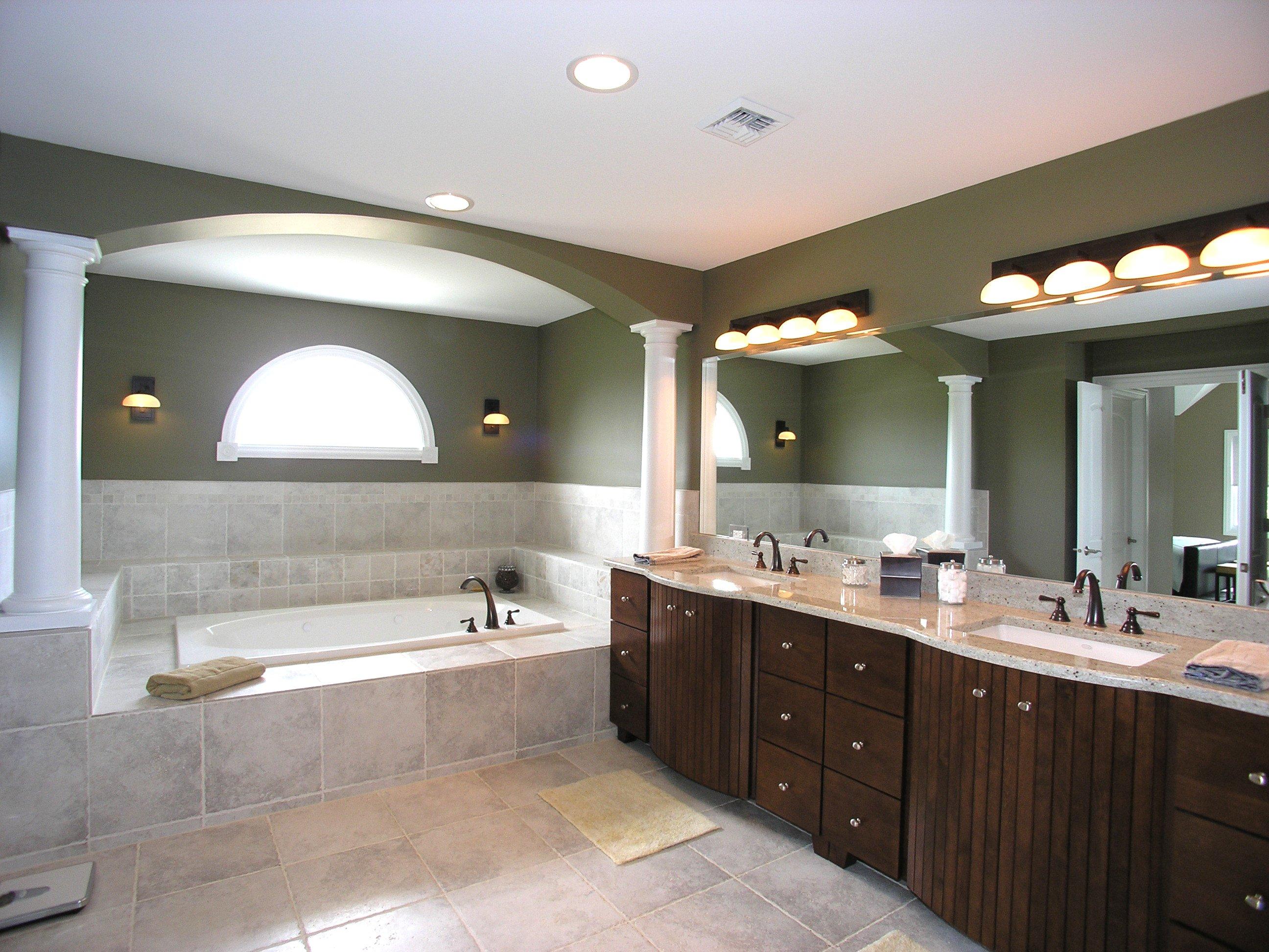 Badezimmer Beleuchtung mit LED-Einbauleucten
