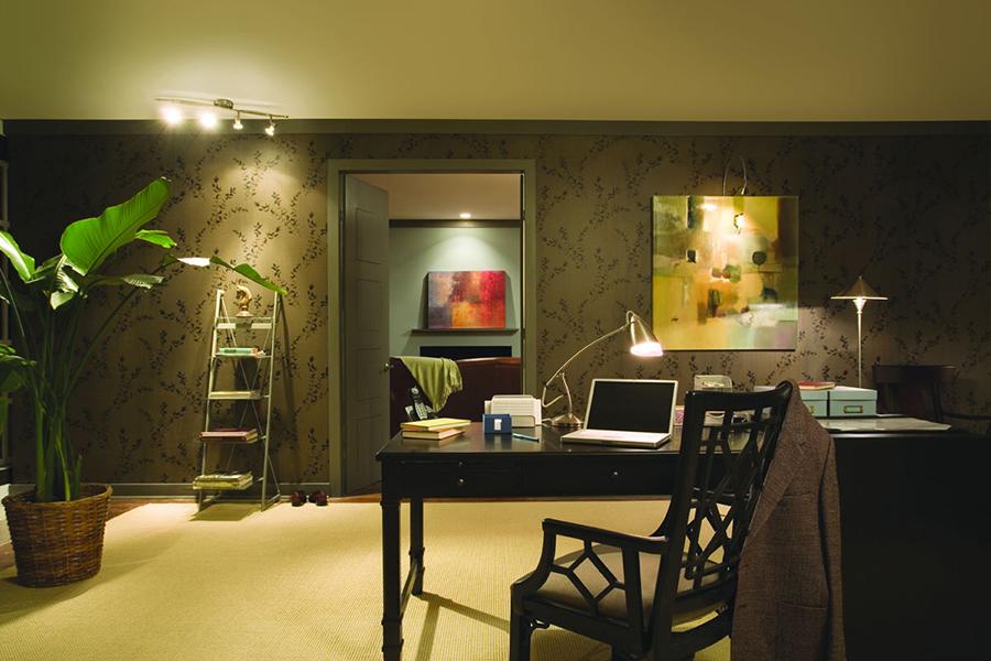 das arbeitszimmer mit led b robeleuchtung aufhellen. Black Bedroom Furniture Sets. Home Design Ideas