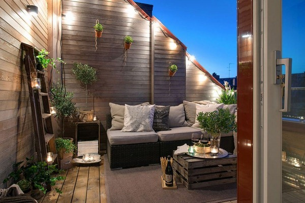 licht auf dem balkon und der terrasse indirekte led. Black Bedroom Furniture Sets. Home Design Ideas